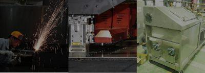 板金ユニット装置の製作フローと加工設備