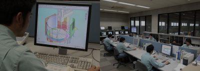 9台の3次元設計CADによる自社設計機能