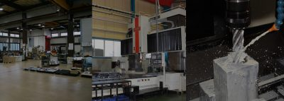 総床面積2,500㎡の大型組立スペースと高精度機械加工