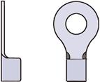 裸圧着端子(丸形・R端子・リングターミナル)