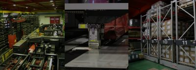 10棟の工場建屋と自動化板金加工設備による24時間生産体制